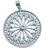 pendant rose window silver