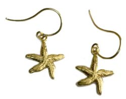 earrings starfish in gold 18 kt