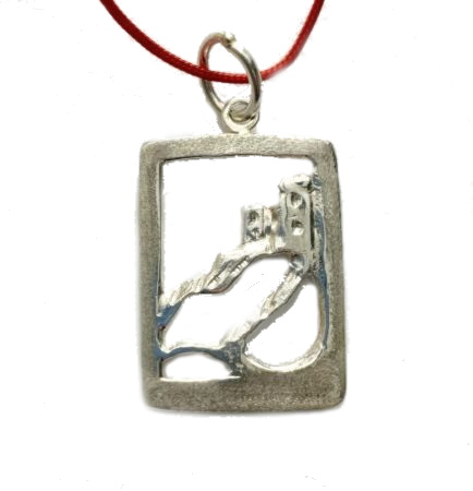 Pendant of Torre Aurora in Monterosso in sterling silver