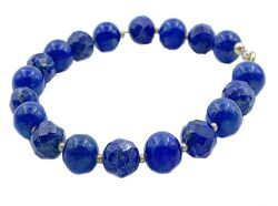 Bracelet with lapislazuli and gold 18kt