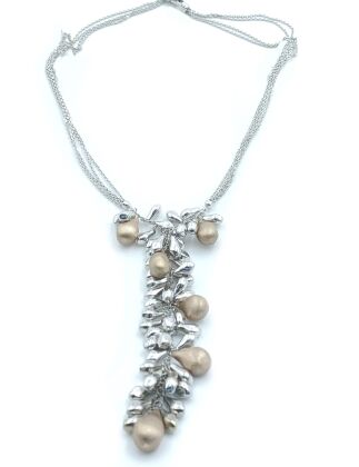 White and rose gold18 kt necklace